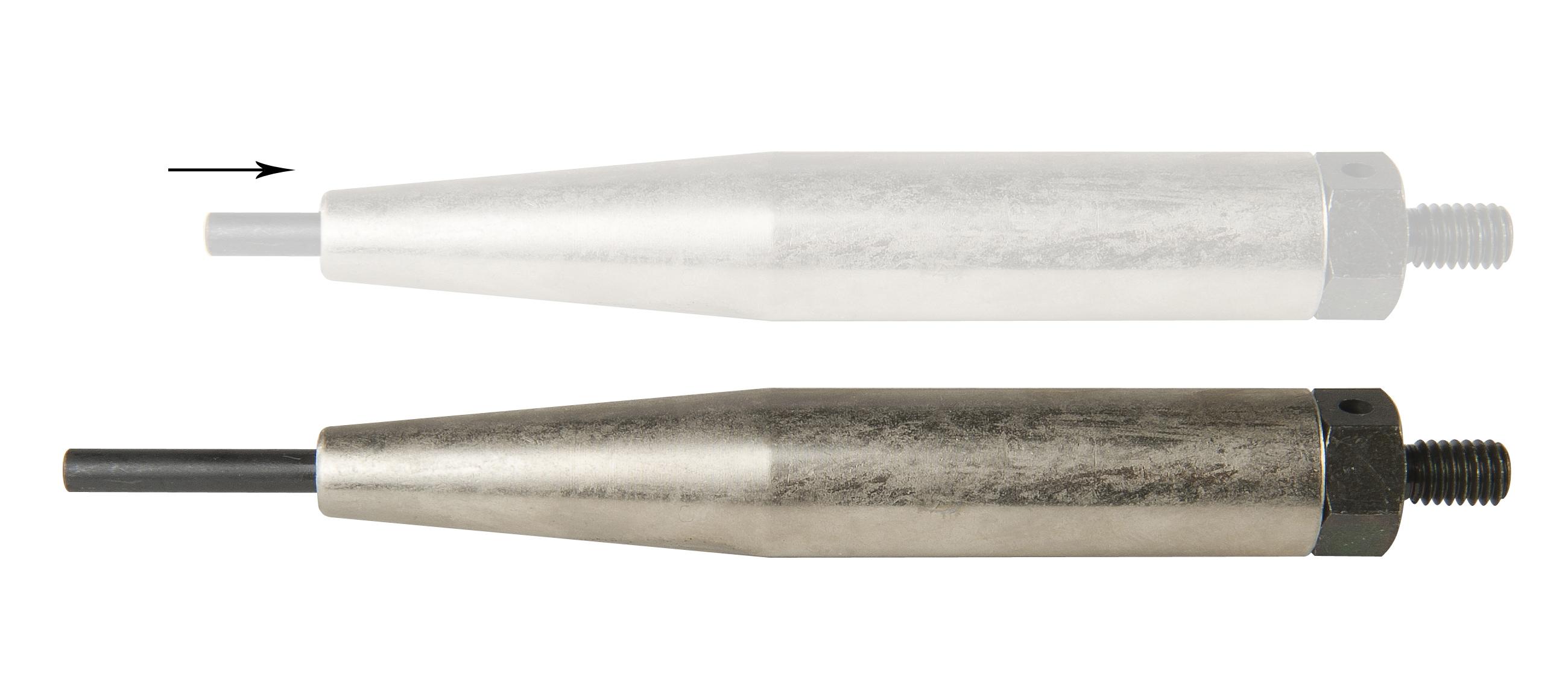 258-onderuitbreekpen D = 15 mm met geharde huls en geharde stift 4 mm