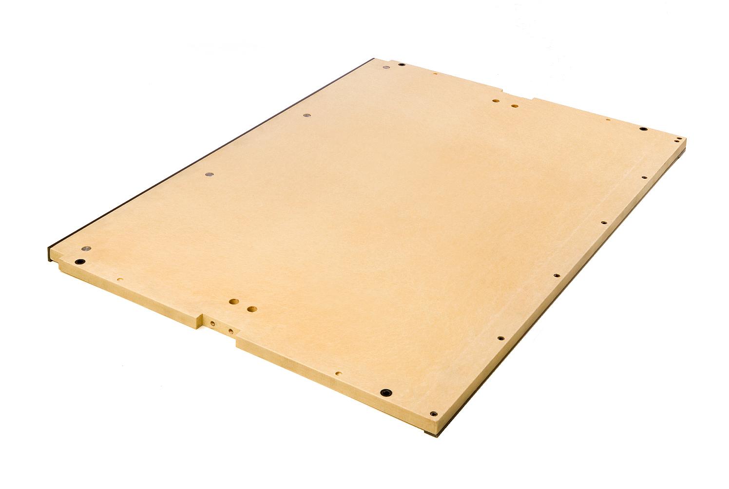 kunststof resocell onderplaat met staaldelen-lijsten